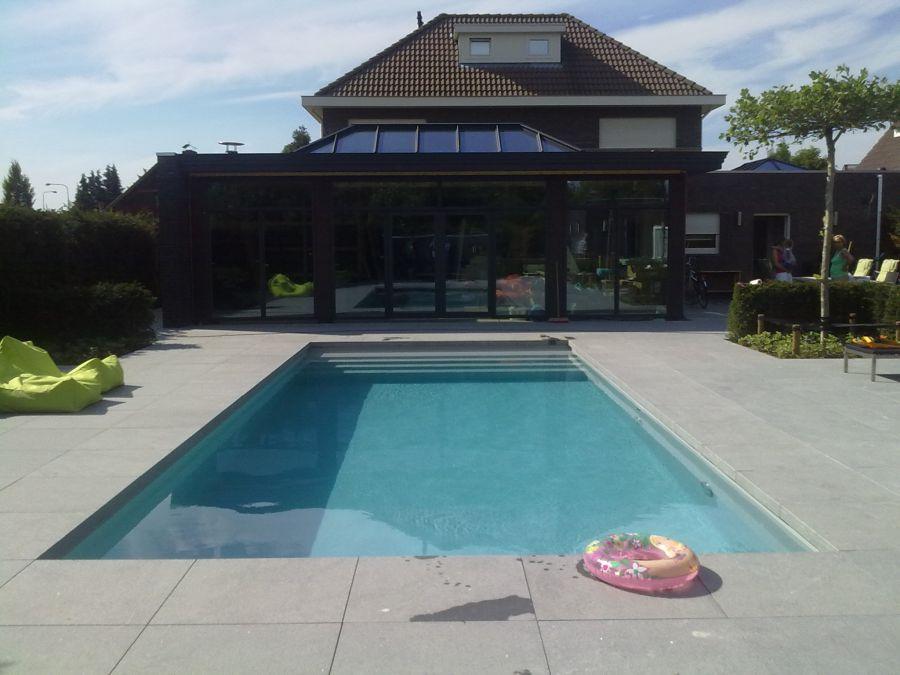 Randtegels aquapoint for Vierkant zwembad met pomp